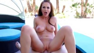 Whorish young girl is misbehaving swallowing a rough dork