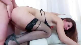 Whorish porn star in stockings fucked wonderfully