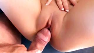Hard sweetmeat is deeply filled up in bitch's small anus