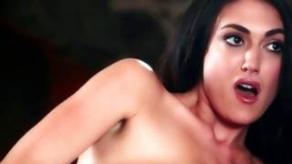Fantastic dark-haired whore in perfect solo performance