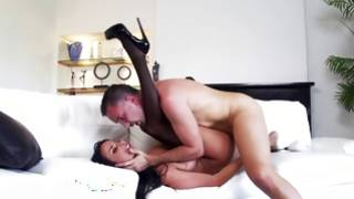 Lovely brunette milf loves pussy deep kissing and anal